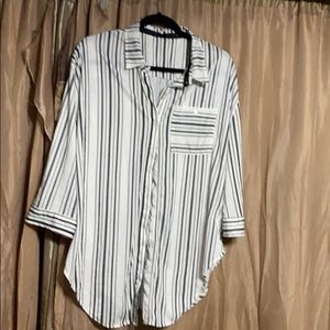 Stripped button up